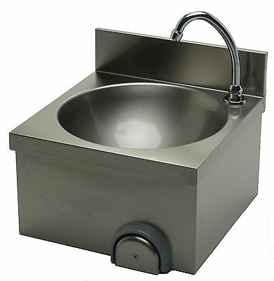 Stainless Steel Hand Basin 400 x 400 M knee operation Washbasin Hand Wash Sink