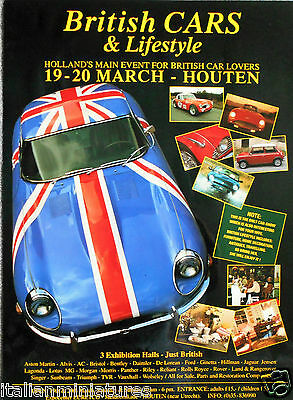 Jaguar E Type FHC Union Flag Dutch Poster Pre 1999 59cm x 44cm