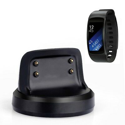 Desk Wireless Dock Charger for Samsung Gear Fit2 R360 Smart Watch 2 Directions