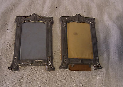 2 Antique German Picture Frame Stamped Sheet Metal 1900 #BY2