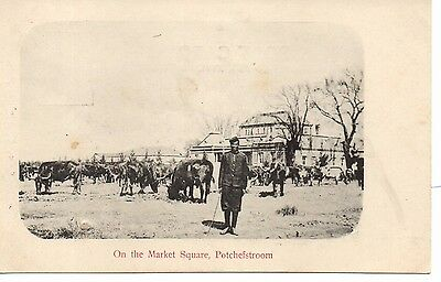Great Early U/B P/C South Africa. On the Market Square, Potchefstroom C1900.Good