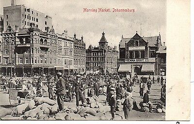 Great Early U/B P/C South Africa. Morning Market, Johannesburg C1900.Good