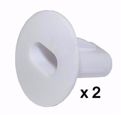 Plastic Hole Tidy Wall Grommet Sky twin Double Coax Aerial Cable Entry WHITE x 2