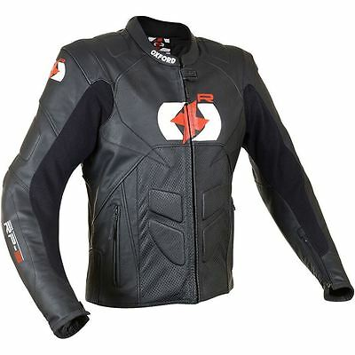 Oxford RP-S Leather Motorcycle Jacket Racing Sports Short Motorbike CE Armoured