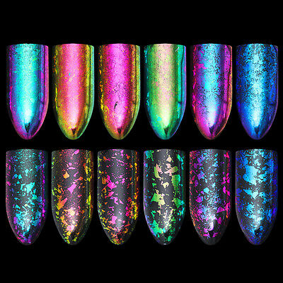 BORN PRETTY Chameleon Nail Sequins Irregular Glitter Nail Art Flakies Powder