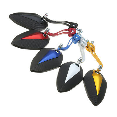 1 Pair 8mm 10mm Motorcycle Rearview Mirrors For Honda Yamaha Suzuki Kawasaki