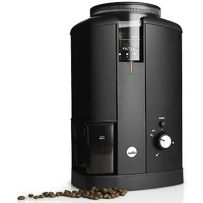 Wilfa Coffee Grinder Low speed motor Conical burrs steel 250g capacity Silent UK