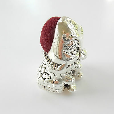 Sterling Silver Humpty Dumpty Thimble Pin Cushion Hallmarked