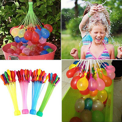 Colorful 111 Magic Water Balloons Self Tying Bunch O Balloon Bombs Party Toys