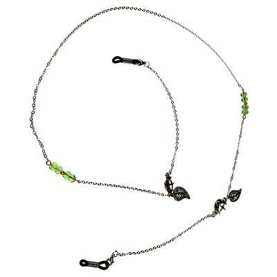 Green Rhinestone Chain Eyeglass Holder Eyewear Cord Neck Cord Holder 78cm