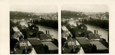 STEREO Suisse, Berne Panorama STEREO Suisse, Berne Panorama Tirage argentique