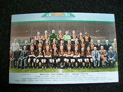 "BRADFORD PARK AVENUE TEAM Season  1931/1932   6""x4""  Photo REPRINT"