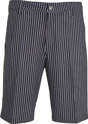 adidas ClimaLite Pin Stripe Golf Shorts - Black