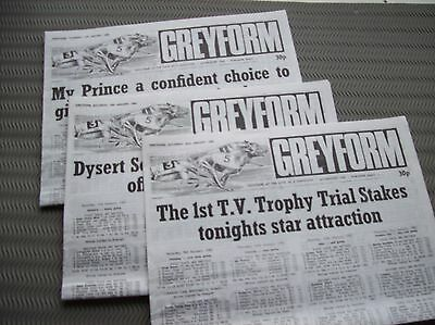 14 16 23 January 1982 Belle Vue Manchester 3 x Greyform greyhound racing guides