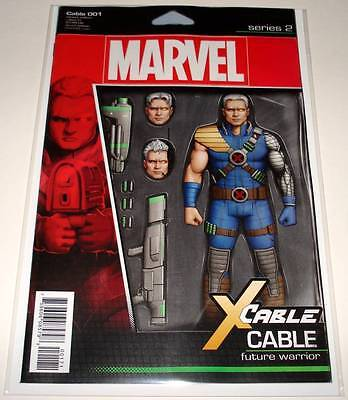 CABLE # 1  Marvel Comic  July 2017  NM   ACTION FIGURE VARIANT COVER