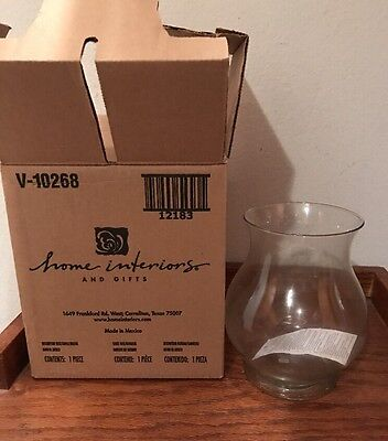 Home Interior New In Box Glass Vase/ Candle Holder #12183