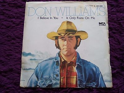"Don Williams ‎– I Believe In You ,  Vinyl, 7"", 1981 , Spain , a-102.360"