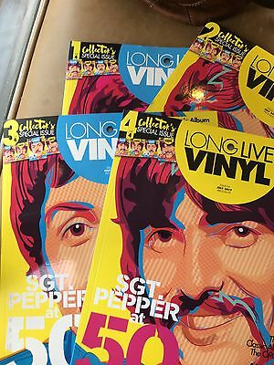 Long Live Vinyl Magazine #4 The Beatles John Lennon, Paul McCartney 4 SET COVERS