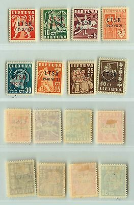 Lithuania, 1940, SC 2N9-2N16, mint. f2587
