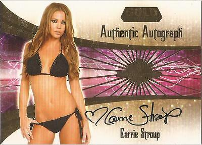 """Benchwarmer 2007 Gold Edition -  #17 of 30 """"Carrie Stroup"""" Auto / Autograph Card"""