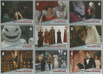 """Topps Doctor Who 2015 - """"Christmas Time"""" Set of 10 Chase Cards #CT1-CT10"""