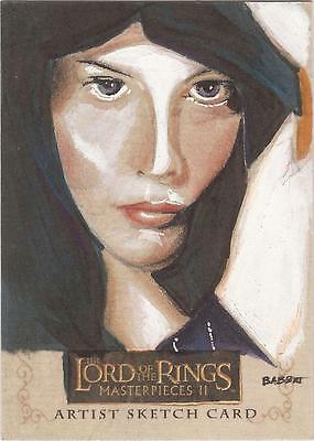 """Lord of the Rings Masterpieces II - Kyle Babbitt """"Arwen"""" Sketch Card"""