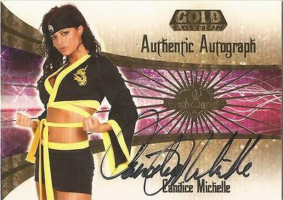 """Benchwarmer 2007 Gold Edition -  #3 of 30 """"Candice Michelle"""" Autograph Card"""