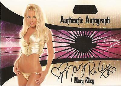 """Benchwarmer 2007 Gold Edition -  #2 of 30 """"Mary Riley"""" Auto / Autograph Card"""