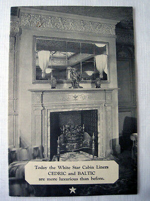 CEDRIC and BALTIC -- Interiors Brochure, 1920s -- White Star Line