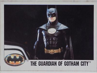 Topps Batman Movie Trading Card Number 132 The Guardian Of Gotham City 1989 Film