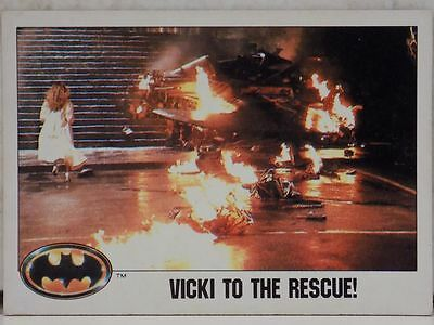 Topps Batman Movie Trading Card Number 110 Vicki To The Rescue 1989 Dc Comics