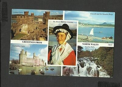 Harvey Barton Multi View Colour Postcard Greetings from North Wales-Conway castl