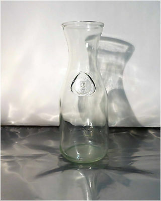 Vintage Milk Bottle, Dominion Glass Co, 1 Litre, Clear Glass 6027 Made in Canada