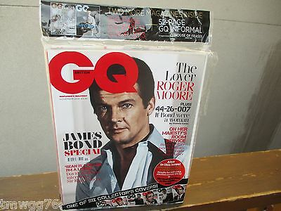 James Bond 007 British Gq 50Th Anniversary Cover Roger Moore 2012 Collector Uk