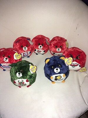 7 NBA Plush Ty Beanie Ballz. Bucks 76ers Hawks Wizards Rockets Clippers & Pacers