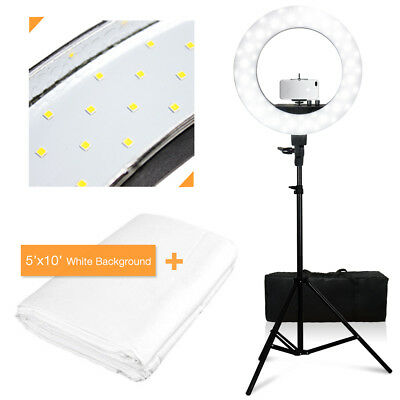 """NEW 18"""" 55W 240PCS LED SMD Dimmable Ring Video Light W Stand Phone Mount"""