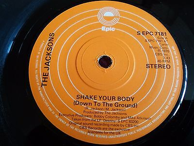 "The Jacksons ‎– Shake Your Body , Vinyl, 7"", Single, Solid Centre , UK , 1979"