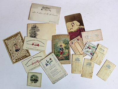 Antique Paper Rewards of Merit Calling Cards Age Cards Love Forget Me Not
