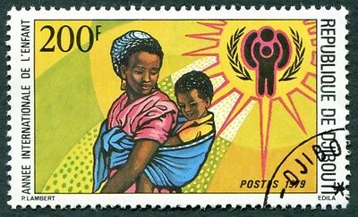 DJIBOUTI 1979 200f SG754 used NG International Year of the Child b #W29