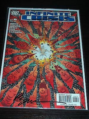Infinite Crisis #6! (2005) Signed-Phil Jimenez & George Perez! NM! COA!