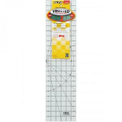 """OLFA Frosted Advantage Non-Slip Ruler """"The Essential""""-6""""X24"""""""