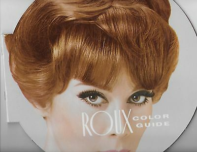 * VINTAGE * BEAUTY PARLOR / SHOP * ROUX * HAIR COLOR GUIDE * 1950s 60s