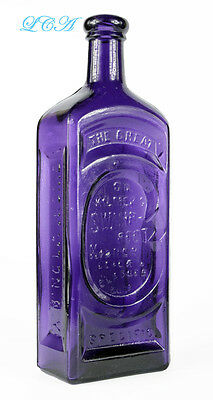 Ultimate OLD quack medicine RARE PURPLE bottle GREAT Dr Kilmer's SWAMP ROOT CURE