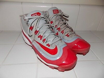 Nike Huarache 2Kfilth Pro Mid Baseball Cleats 6Y 6 Spikes $90 Red Youth Pony Ll
