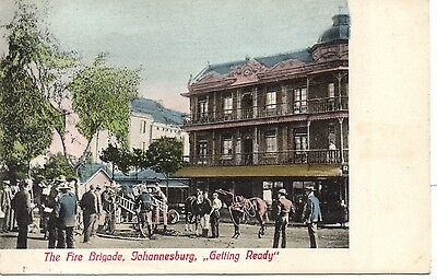 Great Early U/B P/C South Africa. The Fire Brigade, Johannesburg C1900.VF