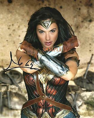 Gal Gadot #1 Reprint Autographed Picture Signed Photo 8X10 Wonder Woman Rp Gift