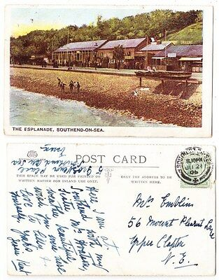 Early Postcard,Essex,Southend On Sea, The Esplanade, 1906