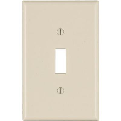 200-Leviton Almond Single Mid-Way Toggle Switch Wall Plate Cover 025-80501-00T