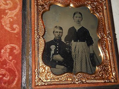 (Confederate) Civil War Soldier, Wife 1/6 Ambrotype - Full Case