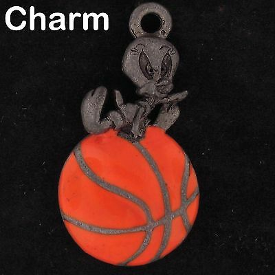 CHARM Tweety Bird WARNER BROS LOONEY TUNES WB STORE Pewter BASKETBALL 4765